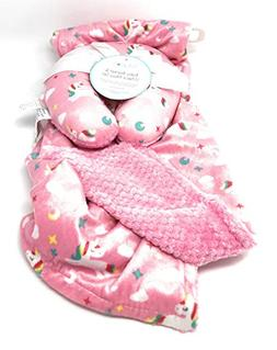 Lollypop Soft and Cozy Pink Baby Blanket Gift Set | Unicorn,
