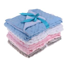 Soft Flannel Blanket Newborn Baby Bedding Stroller Swaddle W