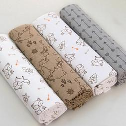 Soft Flannel Receiving Baby Blanket Swaddle Baby bed Sheet A