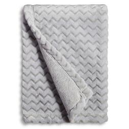 Circo™ Soft Fleece Embossed Baby Blanket - Grey Chevron