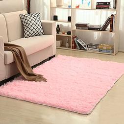 LOCHAS Soft Indoor Modern Area Rugs Fluffy Living Room Carpe