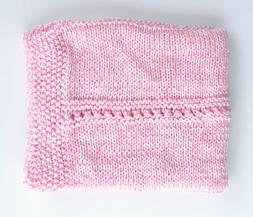 Soft Handmade Knit Baby Blanket ~ Afghan Throw ~ Shower Gift