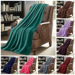 "Soft Micro Plush Flannel Fleece Throw Blanket 50""x 60"" All C"