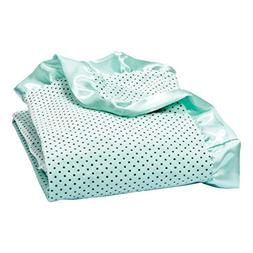 Trend Lab Soft Mint Delightful Dot Velour and Satin Receivin