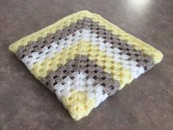 SOFT New Handmade Crocheted Baby Blanket Nursery Crib Beddin
