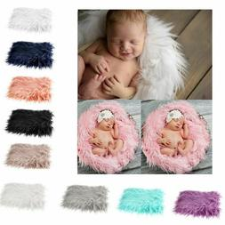 Soft Newborn Photographic Blanket Photo Props Fur Mat Baby P