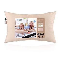 Soft 100% Organic Cotton Toddler Pillow - ALASVILLE Natural