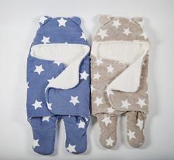 Innovating By Design Soft Swaddle Blanket for Baby,  - Blue