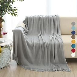 ALPHA HOME Soft Throw Blanket Warm & Cozy for Couch Sofa Bed