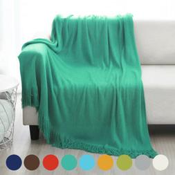 Acrylic Throw Blanket Warm & Cozy for Couch Sofa Bed Beach T