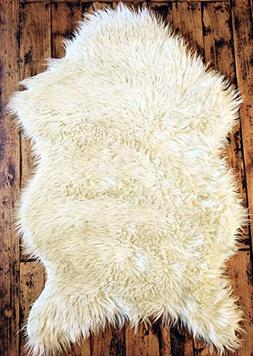 Delectable Garden Soft White Faux Sheepskin Fur Chair Couch