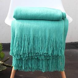LAGHCAT Solid Blanket Cross Woven Couch Throw Christmas Knit