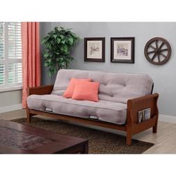 "Better Homes and Gardens Solid Wood Arm Futon with 8"" Coil M"