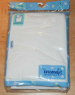 spencers thermal baby blanket 30x40 white new