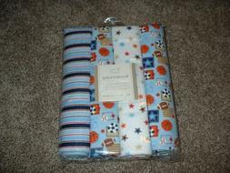 Koala Baby Sports Receiving Blankets 4pk Set Sports Blue Whi
