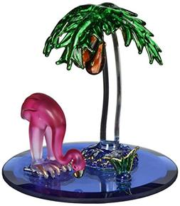 StealStreet SS-UG-CR-3062 Flamingo Bird with Palm Tree Cryst
