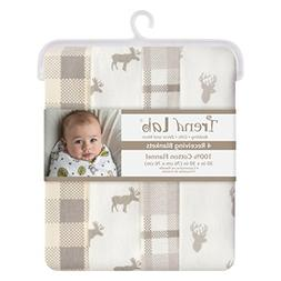 Trend Lab Stag and Moose Flannel Blankets, 4 Piece