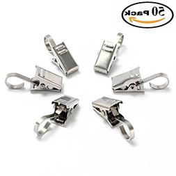 Stainless Steel Clips : Pack of 50 Clips with Hook. Multifun