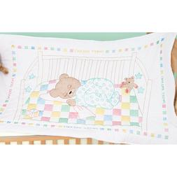 Jack Dempsey Stamped White Quilt Crib Top 40ins x 60ins - Sn