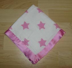 "Bacati Stars Ikat Muslin Security Baby Pink Blanket 15"" Sate"