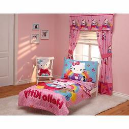 Hello Kitty Stars And Rainbows 4-Piece Toddler Bedding Set 0