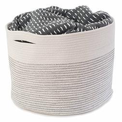 "Storage Basket 15x15x13"" - Cotton Rope, Beautiful Color Desi"