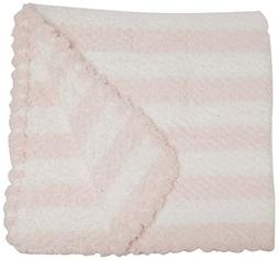 Applesauce Striped Baby Blanket, Pink/White
