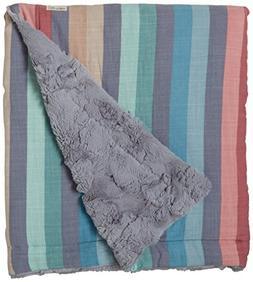 Cozy Coop Striped Plush Blanket