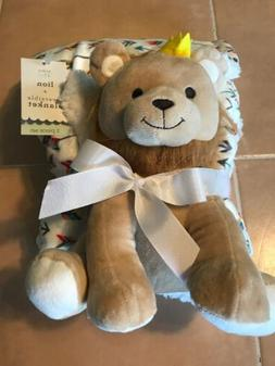 Baby Kiss Stuffed Lion And Reversible Baby Blanket. Super So