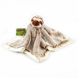 Treasure Trades Stuffed Sloth Lovey Soother Plush Security B