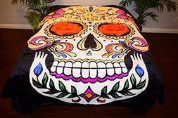 """""""Dia De Los Muertos"""" Sugar Skull Skeleton Luxury Super Soft"""