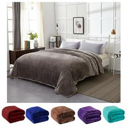 Sumptuous Light Winter Blanket Soft Throw 6 Solid Colors Thr