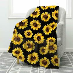 Sunflower Blankets Comfortable Smooth Throw Blanket for Bed