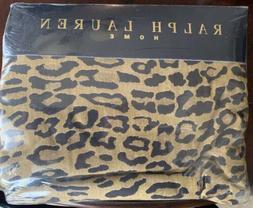 SUPER COOL RARE Ralph Lauren Aragon Leopard Print QUEEN Flat