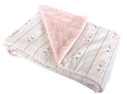 Stephan Baby Super-Soft Reversible Plush Fleece Crib Blanket