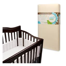 Lullaby Earth Super Lightweight 2 Stage Crib Mattress with B