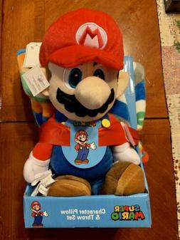 Super Mario Decorative Pillow And Throw Blanket Set