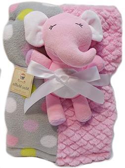 Mini Muffin Super Soft Baby Blanket + Stuffed Animal Combo P