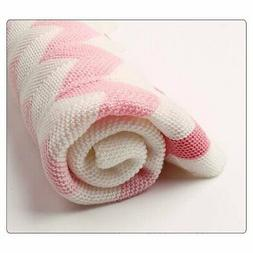 Super Soft Baby Blanket Knitted Newborn Swaddle Wrap Blanket