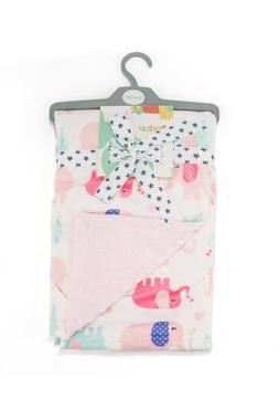 Boritar Super Soft Baby Blanket Throw Minky Raised Dotted Pi