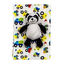Cozy Fleece Super Soft Baby Blanket with Toy, Panda