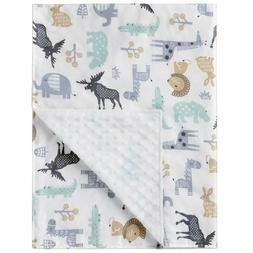 W WelLifes - Super Soft Baby Printed Organic Cotton Mink Bla