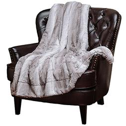Chanasya Super Soft Fuzzy Fur Elegant Throw Blanket | Faux F