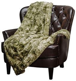 Chanasya Faux Fur Throw Blanket | Super Soft Fuzzy Light Wei