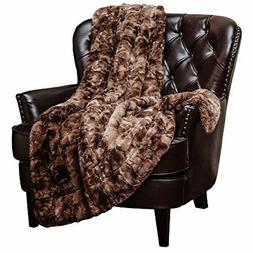 Chanasya Super Soft Fuzzy Fur Warm Chocklate Dark Brown Sher