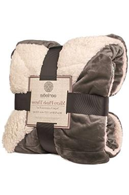Genteele Sherpa Throw Blanket Super Soft Reversible Ultra Lu