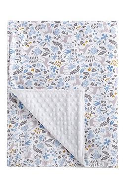 Super Soft Baby Printed Organic Cotton Mink Blanket with Dot