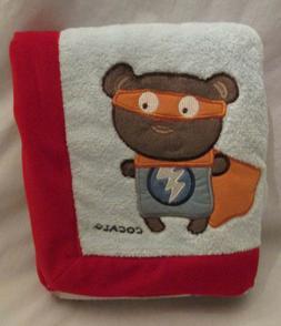 CoCaLo Superhero Pals Plush Baby Blanket Plush Velour Unused