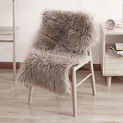 LeeVan Sheepskin Rug Faux Fur Rug Supersoft Fluffy Chair Cov