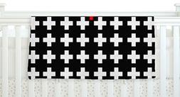 """KESS InHouse Suzanne Carter """"Swiss Cross"""" Black White Fleece"""